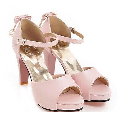 LvYuan Da donna Sandali Comoda PU (Poliuretano) Primavera Casual Comoda Bianco Nero Rosa Piatto blushing pink
