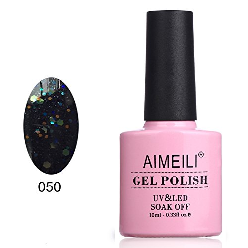 AIMEILI Soak Off UV LED Smalto in Gel con Brillantini