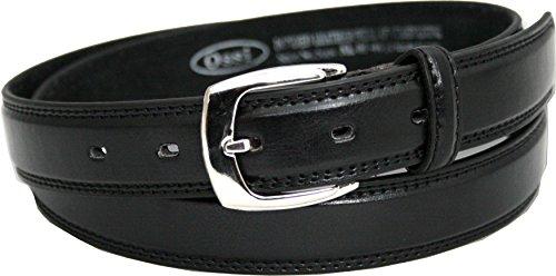 Ossi Leder gefüttert 28mm Kinder Gürtel - schwarz Klein (70cm - 80cm Taille)