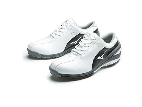 Ladies 2017 Mizuno NEXLITE SL Ultra-Light Spikeless Womens Golf Shoes - Waterproof - White/Black...
