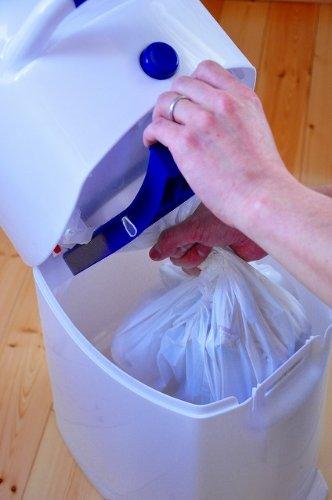 Geruchsdichter Windeleimer Diaper Champ regular blau – für normale Müllbeutel - 8
