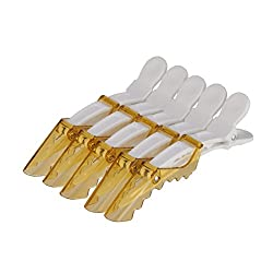 3rb - Alligator Hair Styling Pinch Hair Clips - Yellow (30 Pieces)