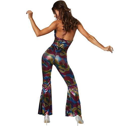 dressforfun 900468 - Damenkostüm Disco Girl, Overall mit Neckholderoberteil und ausgestellten Beinen (L | Nr. 302142)