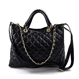 Damen schultertasche schwarz leder damen handtasche damen henkeltasche leder damentasche leder schultertasche leder henkeltasche