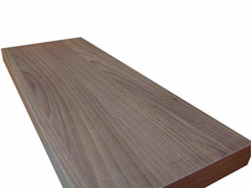 Ve.ca.-italy mensola in legno moderna 60x23 spessore 4 cm noce