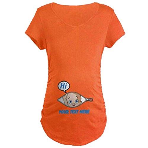 Highdas-Mutterschafts-niedliches lustiges Slogan-Oberseiten-T-Shirt IHR TESTHÖR-Druck Orange / XXL