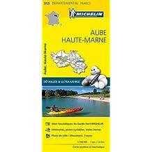 Carte Aube, Haute-Marne Michelin