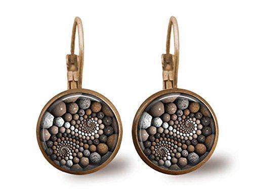 Tile Ohrringe Zen Steine Ohrringe Perlen Schmuck