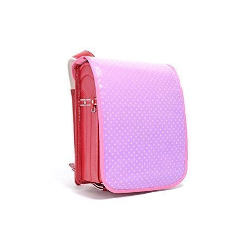 Made in Japan N4122100 (pink dots on purple ground) exciting school satchel cover polka dot (japan import) - Candy Satchel
