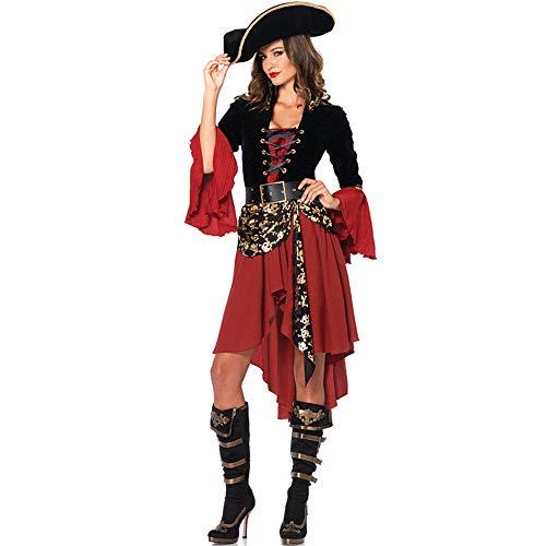 & Dessous Für Damengroße Größe Kleidung Europa Und Die Vereinigten Staaten Halloween Sexy Weibliche Pirat Kostüm Uniform Cosplay Rollenspiel, Farbe, XXL ()