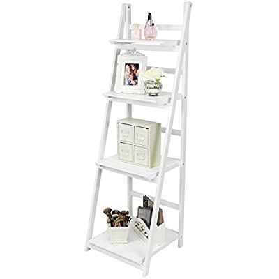 Hartleys 4 Tier Folding Ladder Shelf - White produced by Hartleys - quick delivery from UK.
