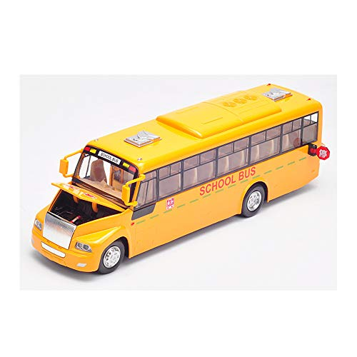 AOTE-D Student School Bus Bus Licht Sound Große Pullback Auto Stimme Geburtstagsgeschenk Spielzeugautos Spielzeugauto Baufahrzeug Lkws Push Und Go Reibung Angetriebene Sets Von,Yellow (Go Go School Bus)