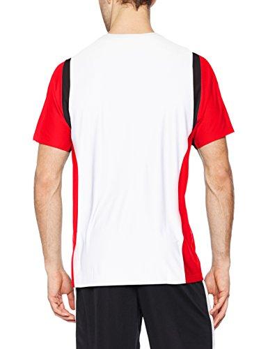 erima Herren T-Shirt Razor 2.0 Weiß/Rot/Schwarz
