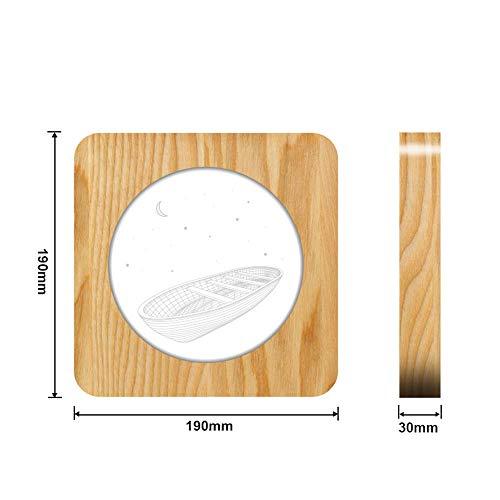 Nachtlicht Schlummerleuchte Stimmungslichter Arche Boot 3D Led Arylic Holz Nacht Lampe Tisch Lichtschalter Control Carving Lampe Für Kinderzimmer Dekorieren -