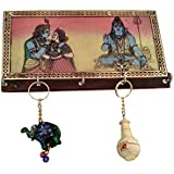Decorative Key Holder Wooden Key Hanger For Wall With 2 Key Chain
