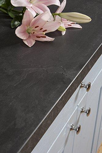 Schwarzer Schiefer - Resopal Küchenarbeitsplatten (3m × 900mm × 38mm)