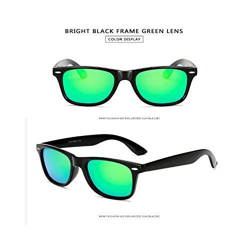 Sport-Sonnenbrillen, Vintage Sonnenbrillen, Sunglasses Männer Polarized Sunglasses Männer Driving Mirrors Coating Points Black Frame Eyewear Male Sun Glasses UV400 bright black green