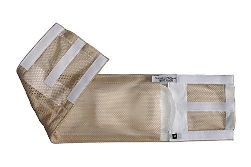 Rüdenwindel aus atmungsaktivem Netzstoff, Farbe sand, für Inkontinenzeinlagen, waschbar, Gr. M (Leistenumfang 55-61cm)
