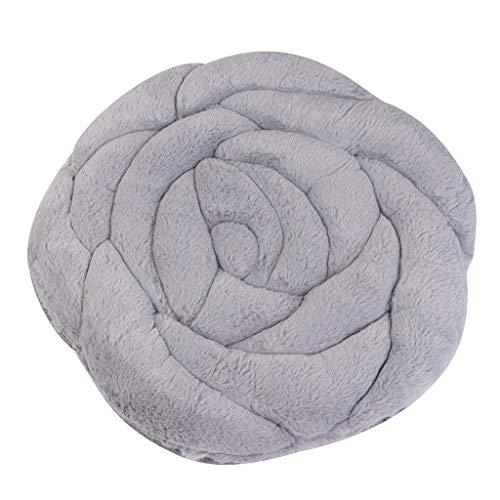Tensay Rose Plüsch Kissen Stuhl Kissen Anti-Rutsch-Erker Kissen Futon Pet Bed Kennel 45X45CM