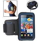 Sport-Armtasche für Samsung Galaxy S2 / i9100, Schutzhülle mit Band und Aussparung für Ohrhörer, Blau