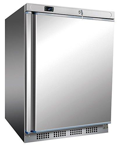 Edelstahl Tiefkühlschrank, 600x585x850 mm, 200 L/78 L,