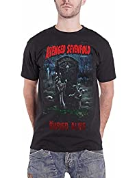 Avenged Sevenfold T Shirt Buried Alive Tour 2012 Official Mens Black