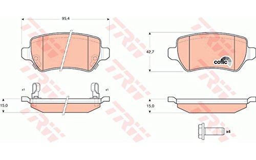 TRW GDB1515 Bremsbelagsatz, Scheibenbremse