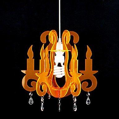 60w Knstlerische Acryl Pendelleuchte Mit 1 Licht In Orange von Licht 518