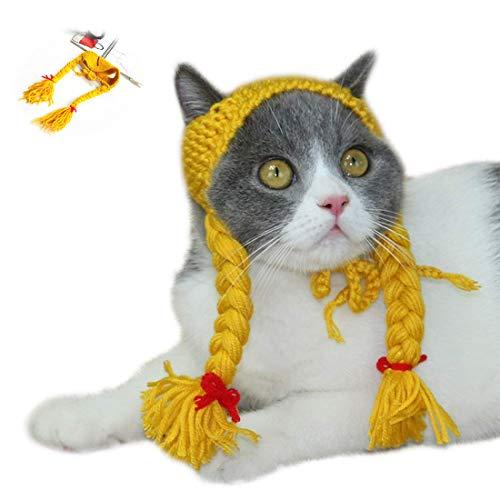 GLZKA Divertido Sombrero de Punto para Mascotas