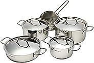 Korkmaz S.Steel Cooking Pot Set 9 Pcs-Turkey,A1607
