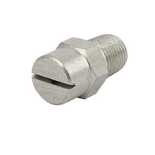 sourcingmap® 1/8BSP orifice 1,8 mm diamètre pulvérisation acier inoxydable 110 degrés embout plat