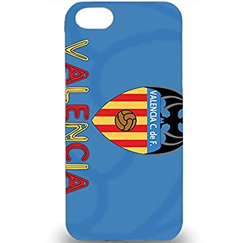 3D Customized Style Cyan Blue Hard Plastic Phone Case For Iphone 5/5s Valencia Football Club Logo Print Case Design For Boys
