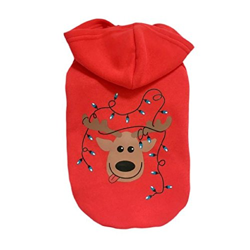 Professionell Kostüm Gemachte - Loveso-Huastier Hunde Kleider Bekleidung Weihnachten Kleidung Kostüm Outwear Mantel-Kleid-Hoodie für Haustier-Hündchen (XL, Rot)