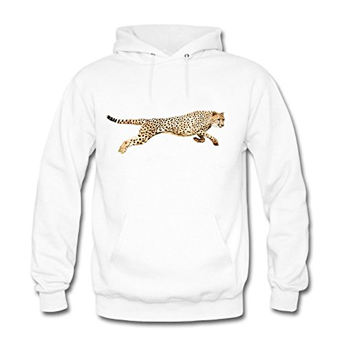 Hooded Ucla Sweatshirt (qianyishop Classic Pullover Hooded Sweatshirt - Women's Cool Leap Leopard Prints Pattern Casual Long Sleeve Tops XL)