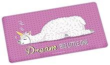 Lama Brettchen Tagliere Rosa, Circa 23,5 x 14,5 cm, con Motivo Scritta Dream Big Little One, Melamina, Multicolore