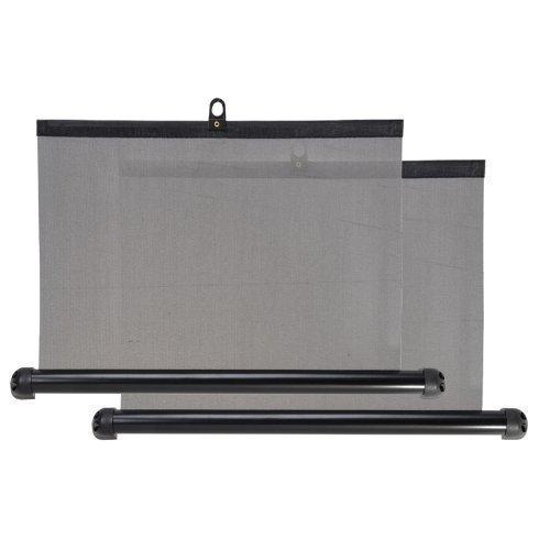 Seitenfenster Rollo Sonnenschutz 2er Set 50cm einteilig Sonnenstrahl schutz