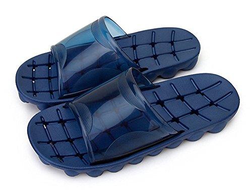 Auspicious beginning Adulti doccia confortevole antiscivolo pantofole sandali della spiaggia piscina fori navy