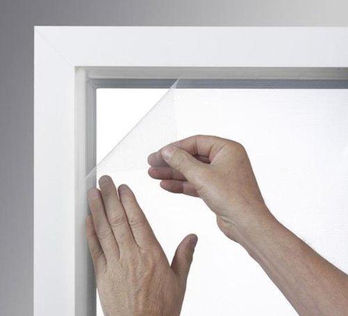 Xclou Moustiquaire de Fenêtre 1 x 1,3 m sans Perçage - Filet Anti Moustique Blanc pour Fenêtre et velux - Rideau moustiquaire en Polyester avec Velcro à Coller