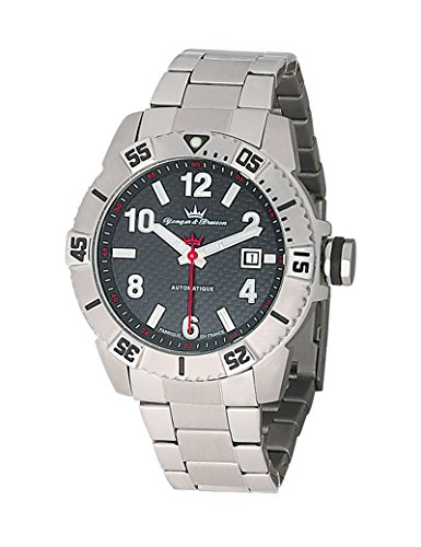 Yonger & Bresson Men's Automatic Watch with Grey Dial Analogue Display and Stainless steel gun metal - YBH 8319-01M
