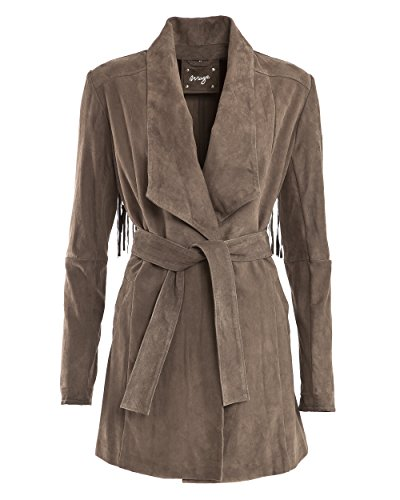 Maze Damen Ledermantel Carpina Brown S