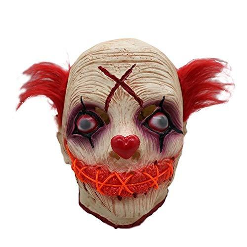 cypressen LED Halloween Maske Maskerade Clown Maske Für Halloween Karneval Party Halloween Performance Requisiten Cosplay Maske