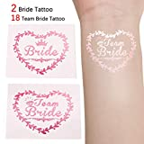 Team Bride Tattoos, Riverpool JGA tattoos Set of 20 Mit 2 Bride Tattoos & 18 Team Bride Tattoos für Junggesellinnenabschied Bachelorette Hochzeit & Braut