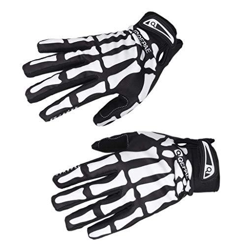 Newin Star Fashion Skelett-Handschuhe, kreativer Totenkopf, Touchscreen-Handschuhe, Fahrrad, Radfahren, Sport Star Touch Screen
