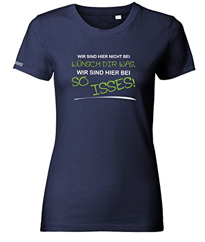 Jayess Wir sind Hier Nicht bei wünsch dir was - Navy - Women T-Shirt by Gr. L
