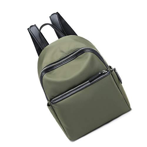 Royalr Nylon-Rucksack Solid Color Stitching-Schule-Schulter-Beutel-Hand Frauen Mädchen Daypack Rucksack -