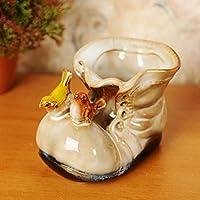 KOONNG Ceramic Fleshy Flowerpot Four Color Little Boots Cute Shoes Succulents Home Vase Decoration