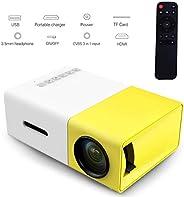 YG300 Mini Portable Projector 400 - 600 Lumens LCD Video Projector Support HDMI / USB / AV / CVBS/ Remote Cont