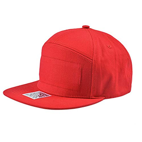 Fenverk Tribly Party Hut LED Beleuchtung, Unisex-Erwachsene Baseball Nachtfeld Hut(F Rot)