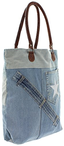 MIK Funshopping, Borsa a spalla donna Blu (denim blue)
