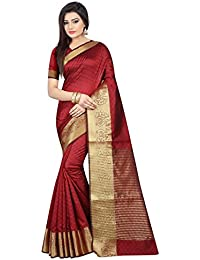 Dwarkesh Fashion Women's Latest Designer Party Wear New Collection Red Silk Bollywood Saree For Women With Unstitched...
